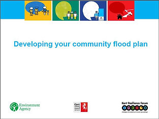 Front page of cover of Developing your community flood plan document