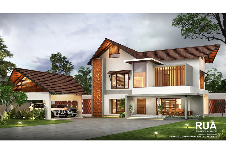 Proposed Elevation for Mr Roshan at Aram