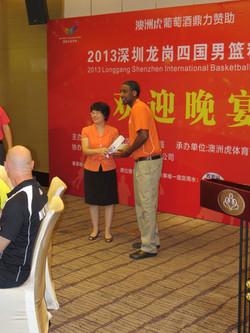 Shenzen Deputy Mayor with Coach Bookal - Gift Exchange