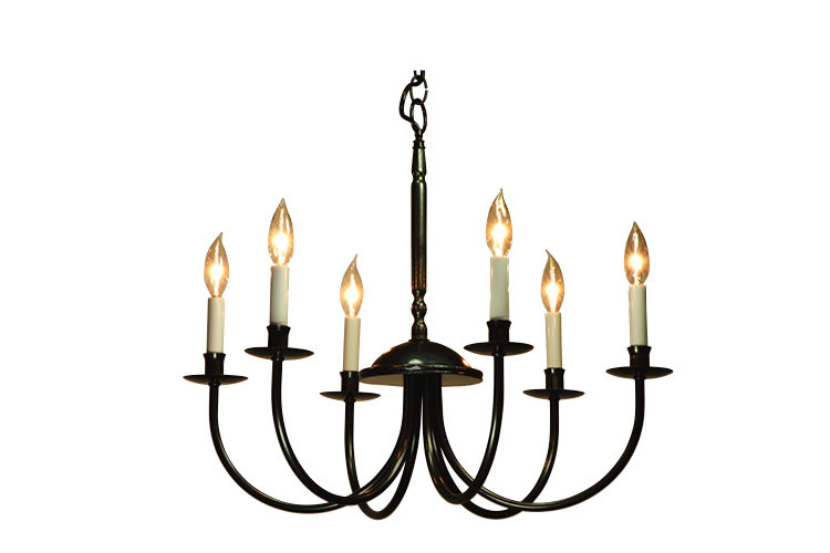 Chandelier 6Arm (Candle-Shade Less)