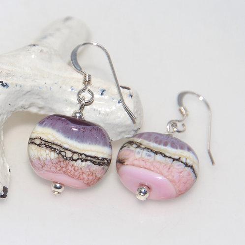 Purple Sandstone Organic Earrings