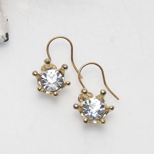 Diamonte Crown Earrings