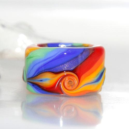 rainbow dread bead