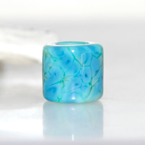 turquoise dread bead