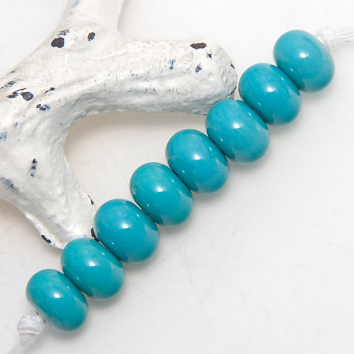 Turquoise Lampwork Glass Spacer Bead Set