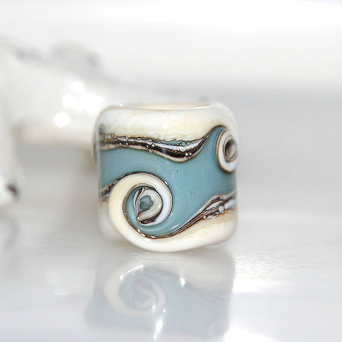 blue dread bead