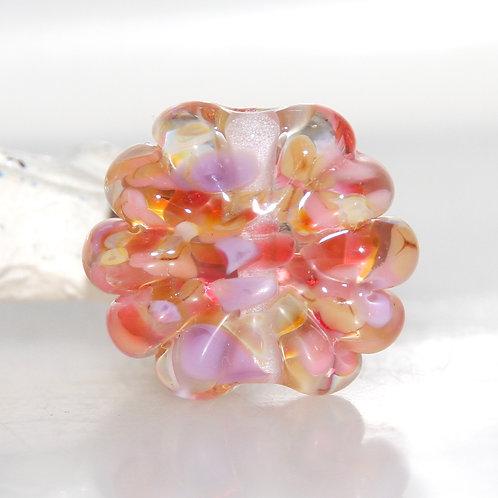 Autumn Starburst Lampwork Glass Bead