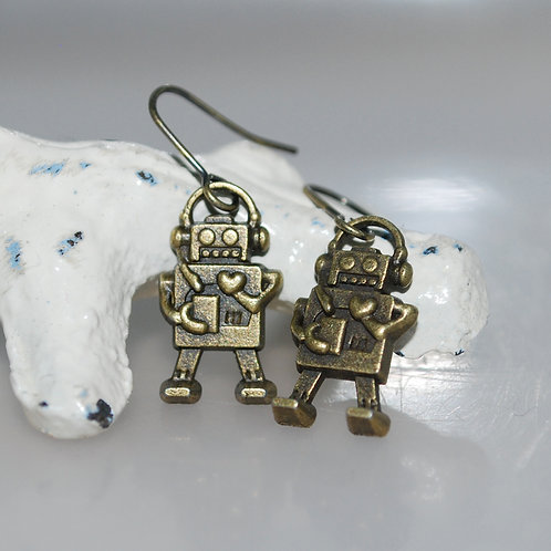 Oh So Cute Robot Earrings