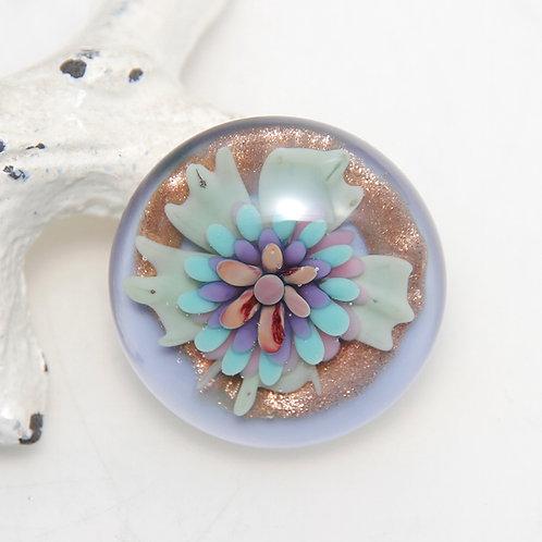 Pastel Goldstone Purple Implosion Lampwork Glass Cabochon