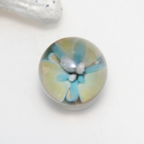 Small Neutral Flower Implosion Marble