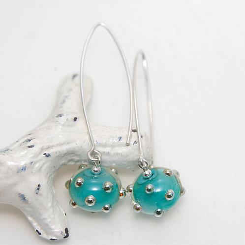 Turquoise Quirky Sterling Silver Earrings