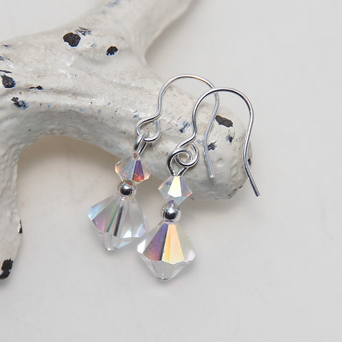 Crystal AB Rainbow Clear Swarovski Earrings