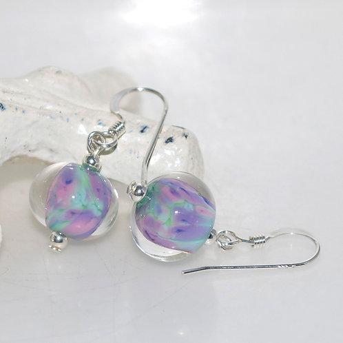 Pretty Monet Glass Earrings