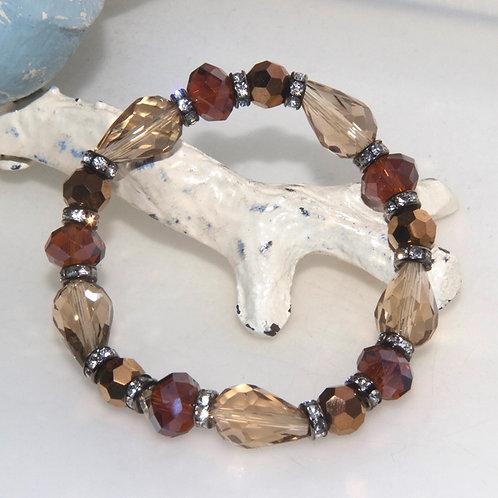 Brown Bling Elastic Bracelet