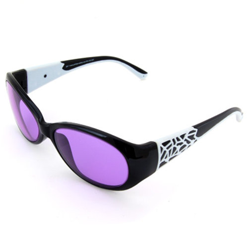 ACE-202 Black/White Frame Protective Eye Glasses