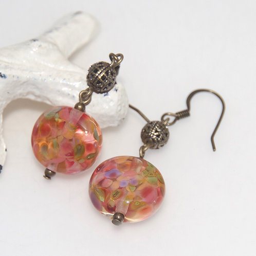 Antique Autumn Glass Earrings