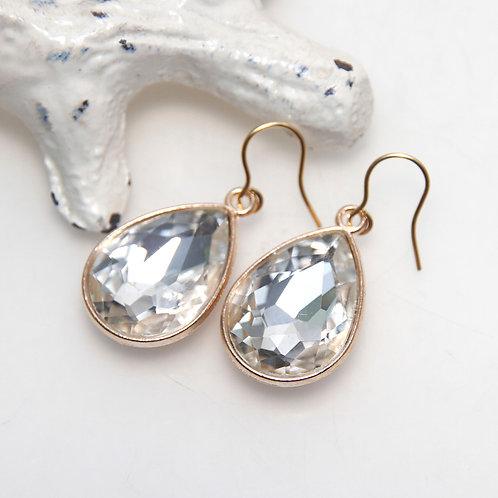 Faux Crystal Drop Earrings