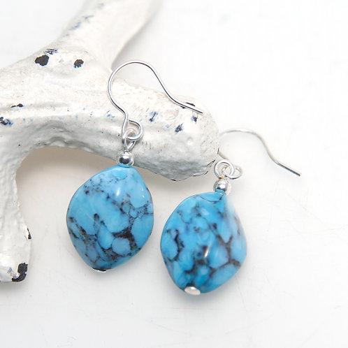Czech Glass Faux Stone Earrings