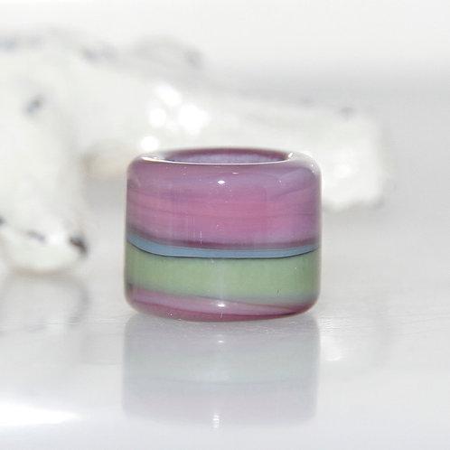 Mulberry Plum Grassy Glass Dread Bead 9mm Hole
