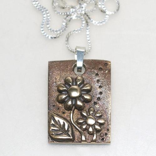 Handmade Bronze Flower Garden Pendant