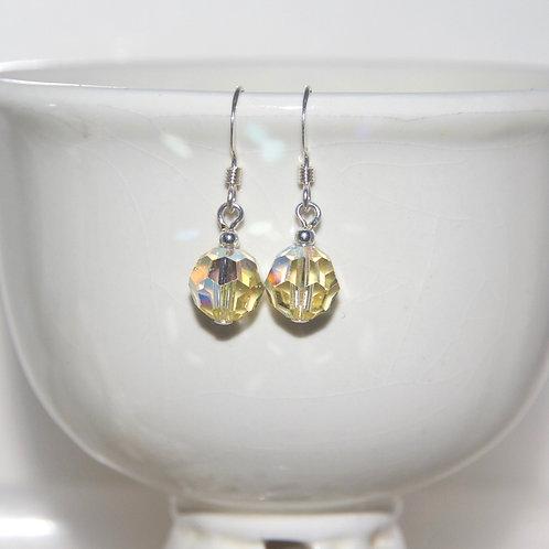 Yellow AB Swarovski Crystal Earrings