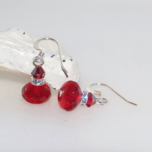Red Little Bling Earrings