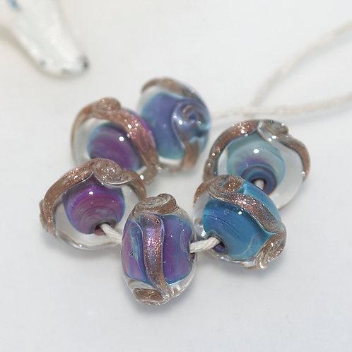 Dreamy Purple Swirl Beads