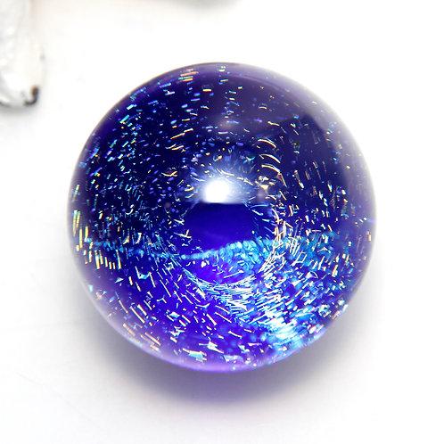 Space Vortex Handmade Glass Sparkly Spiral Dichroic Marble