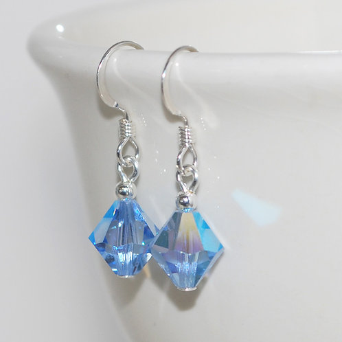 Swarovski Crystal Light Sapphire Blue Earrings