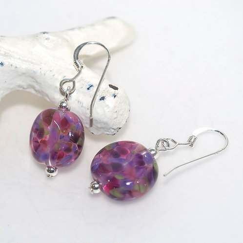 Berry Garden Speckle Earrings
