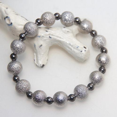 Gunmetal Stardust Stretchy Bracelet