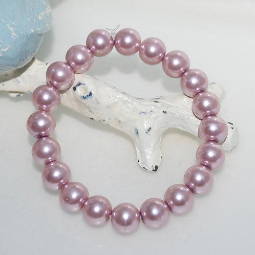 Powder Pink Pearl Elastic Bracelet