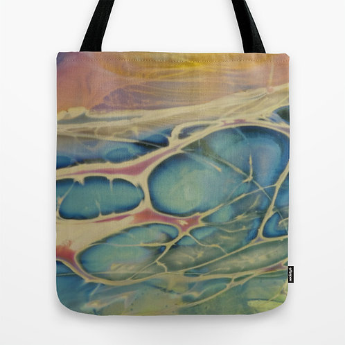 Rainbow Splash Glass Texture Tote Bag Medium