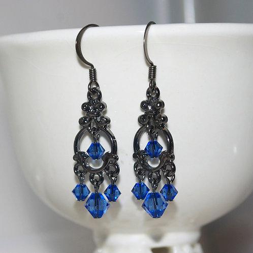 Mini Swarovski Chandelier Earrings
