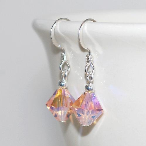 Swarovski Crystal Peach Earrings