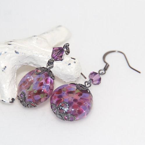 Berry Garden Speckle Drop Earrings