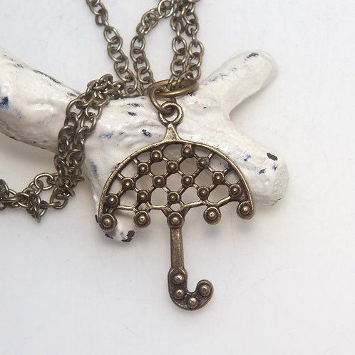 Brolly Antique Brass Chain Necklace