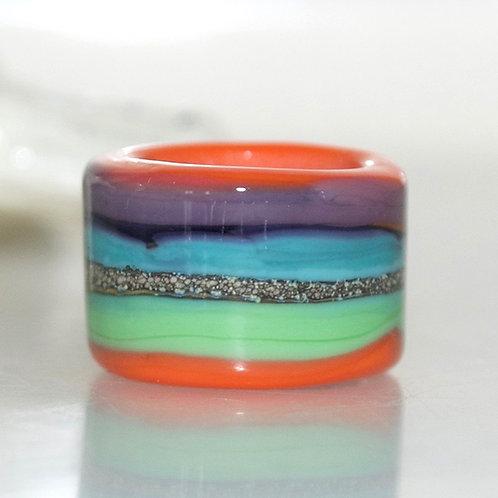 Colourful Striped Organic Dread Bead