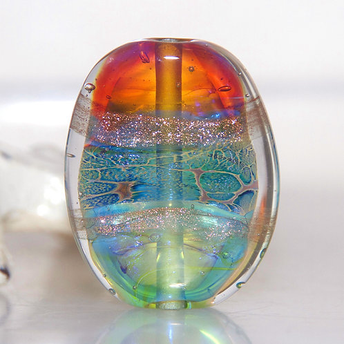 Ethereal Shimmer Lampwork Glass Bead