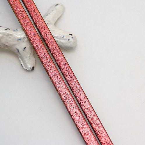 104COE Cyan/Dark Red on Black Glass Strip