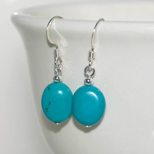 Little Turquoise Howlite Earrings
