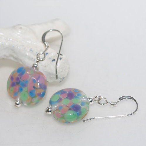 Confetti Sprinkles Glass Earrings