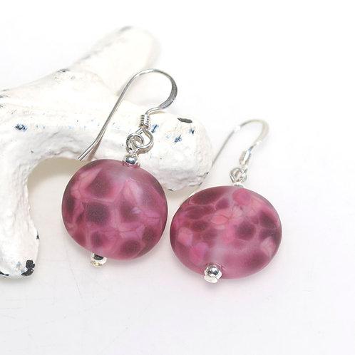 Satin Plum Speckle Earrings