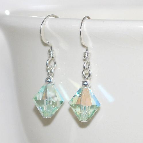 Swarovski Crystal Chrysolite Green Earrings