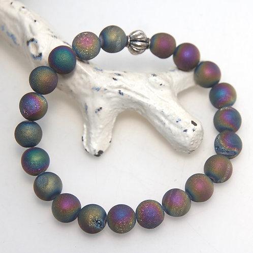 Rainbow Crystal Cave Elastic Bracelet