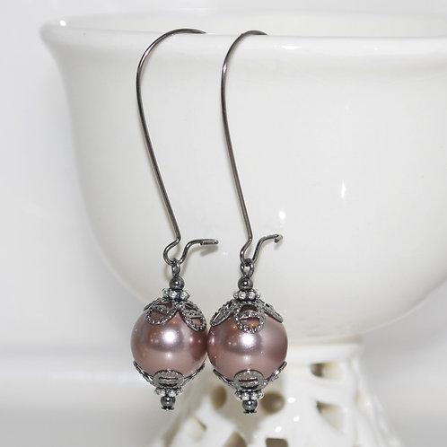 Cocoa Pearl Earrings