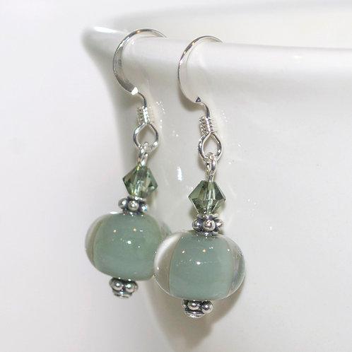 Mossy Green Glass earrings