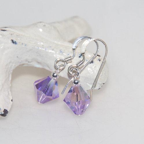 Swarovski Crystal Violet Earrings