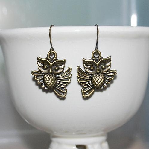 Flappy Owl Earrings