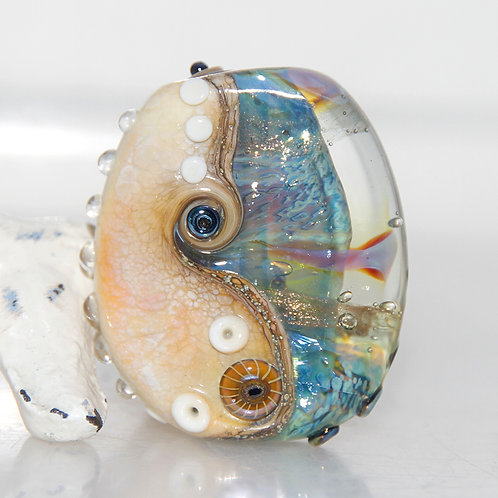 Beach Shimmer Lampwork Glass Bead